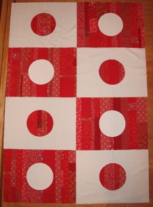 Japanese flag quilt pattern