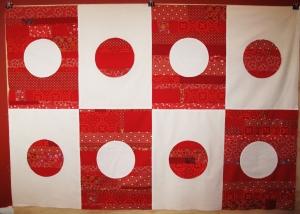 Japan Flag Quilt Design