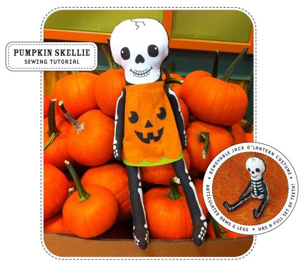skeleton jack o'lantern plushie