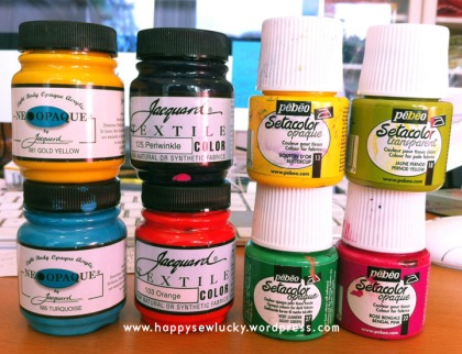 setacolor pebeo jacquard fabric paint ink