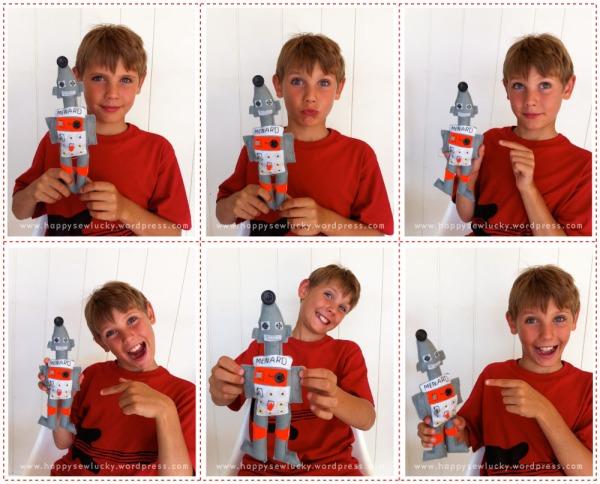 felt robot doll