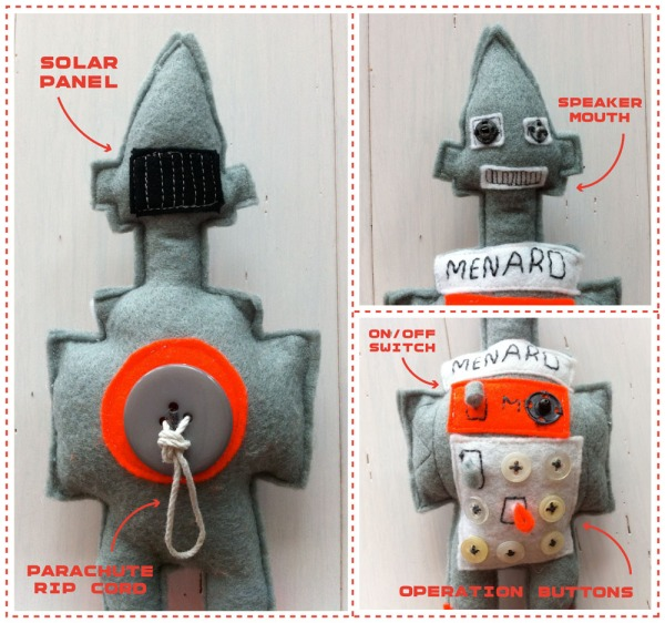 felt robot craft