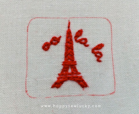 Oo la la embroidery pattern