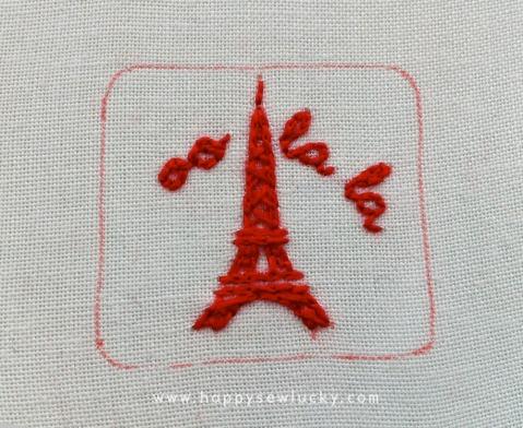 Oo la la embroidery pattern