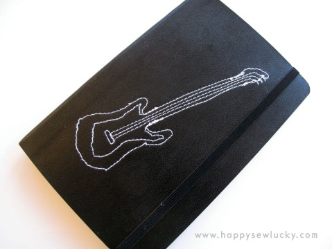 guitar moleskin music