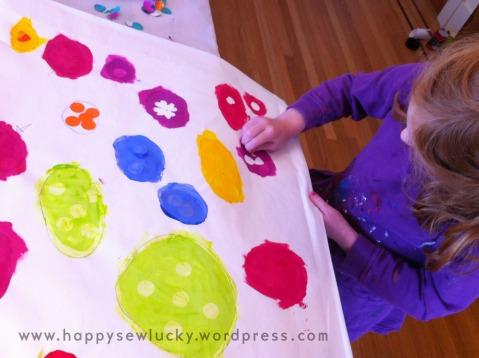 Fabric design stencil