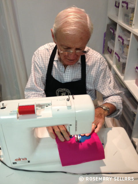 Sean Sellars stitching up a storm!