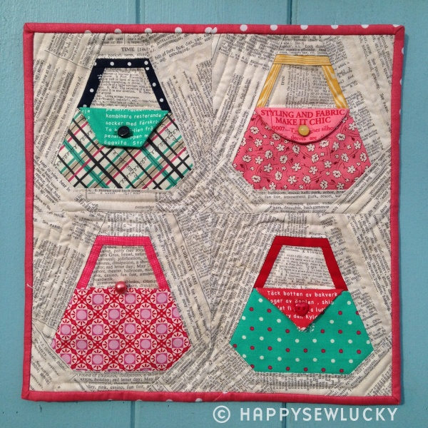 """""""Pop it in your purse, Honey"""" pattern available onEtsy at  HappySewLuckyShop."""