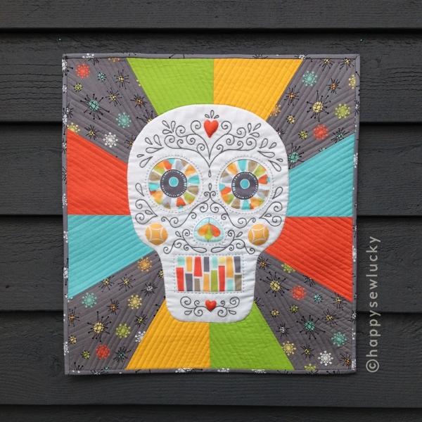 Ola, Sugar Skull Pattern! | happy sew lucky patterns & kits : sugar skull quilt pattern - Adamdwight.com