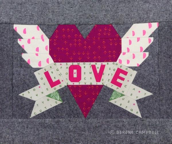 Tattoo quilt: LOVE | happy sew lucky patterns & kits : quilt heart tattoo - Adamdwight.com