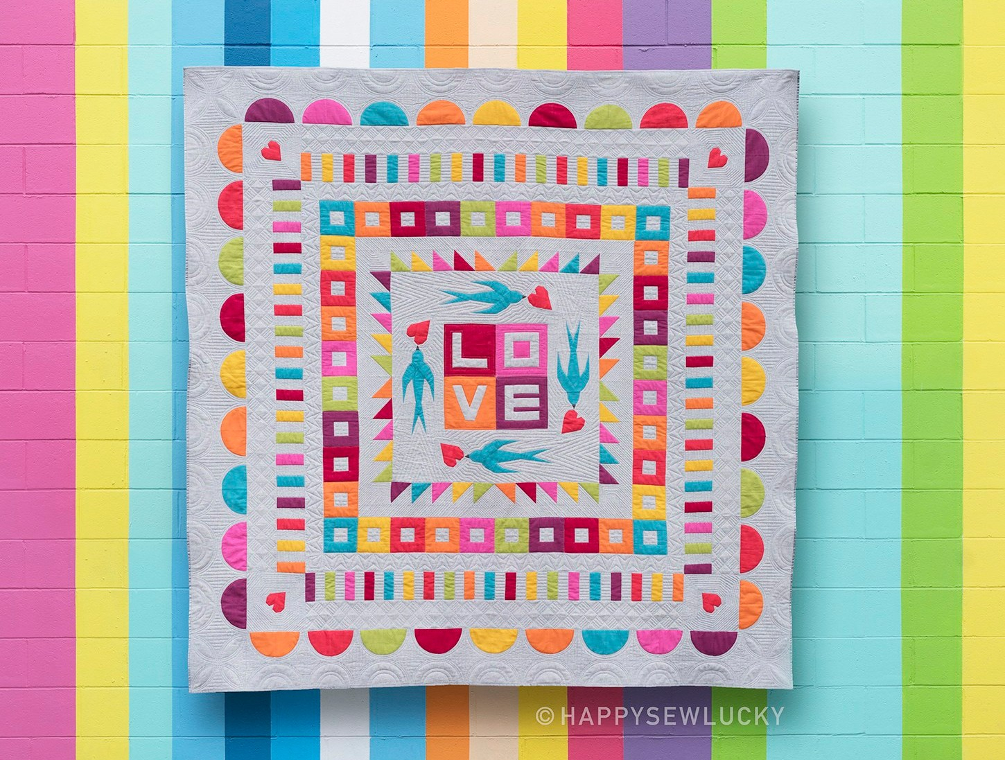 Swallow Medallion Quilt